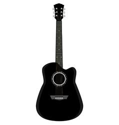 Black guitar vector image vector image