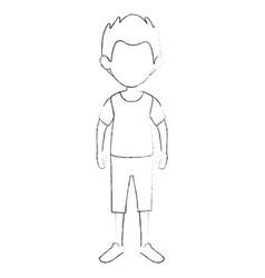 Boy kid cartoon vector