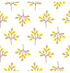 cool trees simple forest seamless pattern vector image vector image