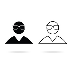 man icon black and white vector image