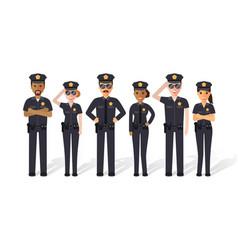 police men and women vector image