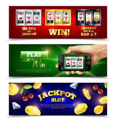slot machine banners set vector image