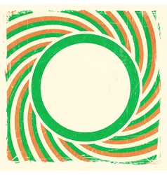 Swirly stripes ROI flag design vector image vector image