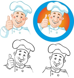 chef icon and outline vector image