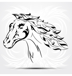 image of an horse on white background vector image