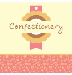 Confectionery logo and background vector image vector image