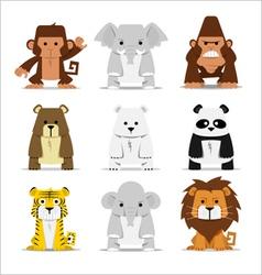 Cute Mammals Set vector image