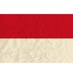 Indonesia paper flag vector image
