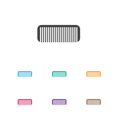 of coiffeur symbol on comb vector image vector image