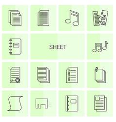 14 sheet icons vector image