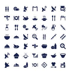 49 dish icons vector