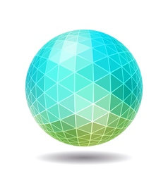 Abstract polygonal sphere vector