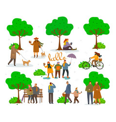 active pastime on nature at park vector image