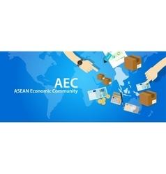 Aec asean economic community association vector