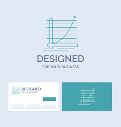 arrow chart curve experience goal business logo vector image