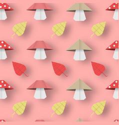 Autumn origami pattern vector