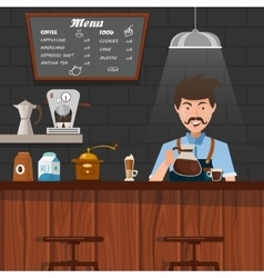 Barista At Work Design vector image