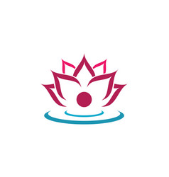 Beauty lotus flowers design logo template icon vector