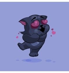 Black cat in love vector