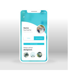 Blue designers group ui ux gui screen for mobile vector