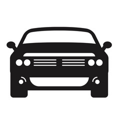 Car automobile flat icon for apps or website vector