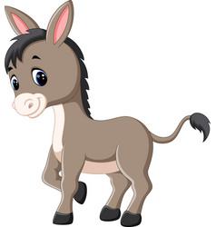Cartoon happy donkey vector