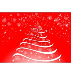 Christmas background with white snowflakes and sta vector