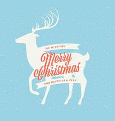 Christmas deer sign vector