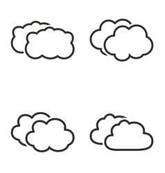 clouds sky icon set vector image