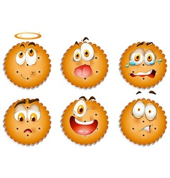 Cookies with facial expressions vector image