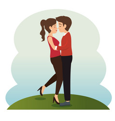 Couple in love together forever icon vector