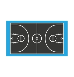 Court basketball sport isolated icon vector