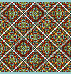 decorative colorful mosaic tile seamless vector image