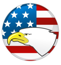 Eagle and american flag vector