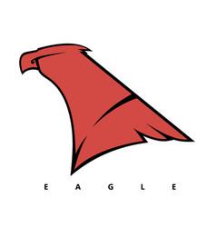 eagles head logo vector image