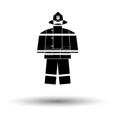 Fire service uniform icon vector