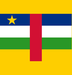 flag of central african republic official vector image