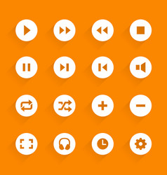 flat buttons media vector image