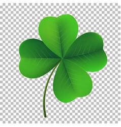 Four-leaf shamrock clover icon lucky fower-leafed vector