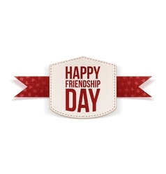Friendship Day greeting paper Banner vector image