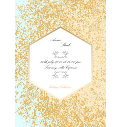 glitter wedding invitation vector image