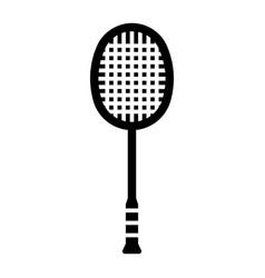 Glyph beautiful badminton racket icon vector