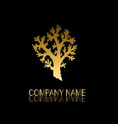 golden coral symbol vector image