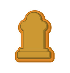 Halloween cookie tombstone gingerbread rip vector