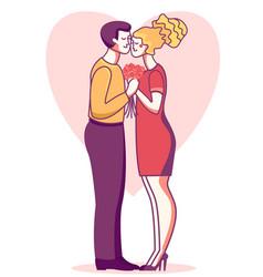 happy valentine day card romantic couple man vector image