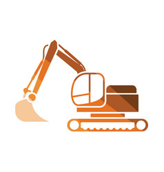 icon of construction excavator vector image