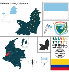 Map of Valle del Cauca vector