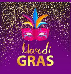 mardi gras carnival mask on vector image