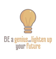 Motivational lightbulb vector image