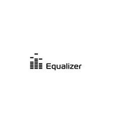 music sound wave logo audio digital equalizer vector image